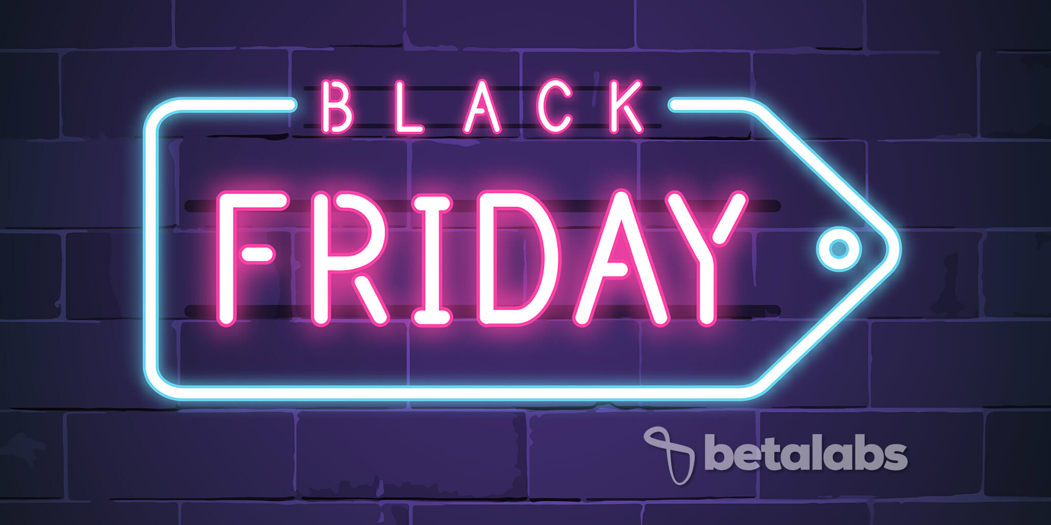 Placa de Neon Black Friday